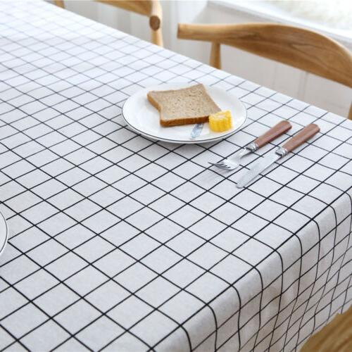 Simple Polyester Tablecloth Waterproof Oilproof TableCover