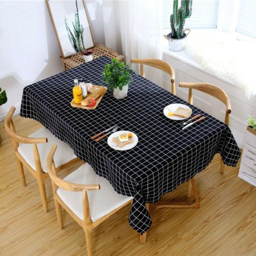 Slipcover Kitchen Table Cloth Dining Cover US