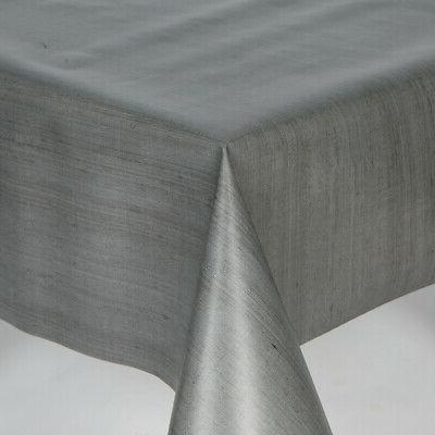 Plain Textured Vinyl Table Cloth Wipe Clean Black White Cream