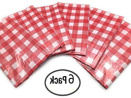 Red White Tablecloths 6 - Picnic Table by Oojami