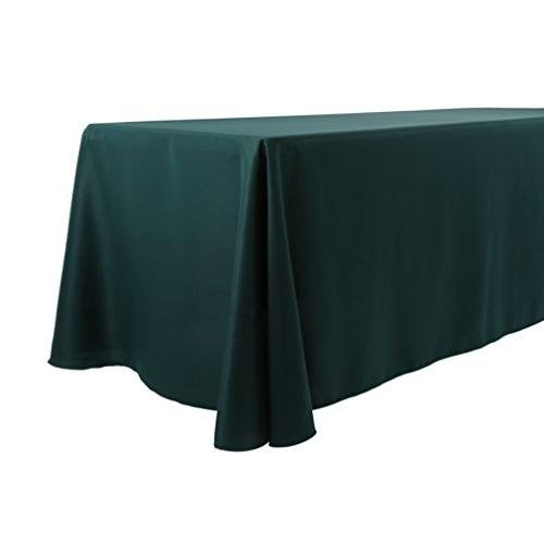 E-TEX 90x156-Inch Polyester Tablecloth Fit Rectangular Table