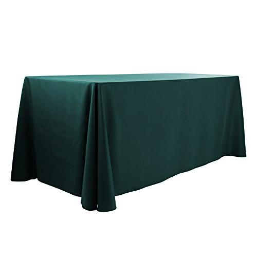polyester oblong tablecloth fit