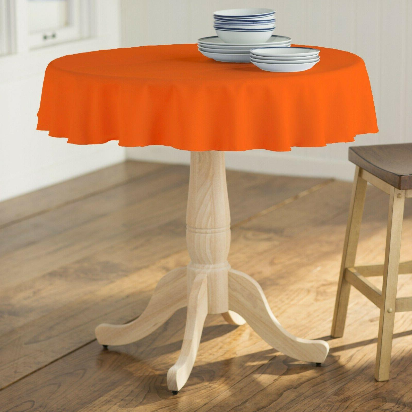 polyester poplin round tablecloth 51 inches made