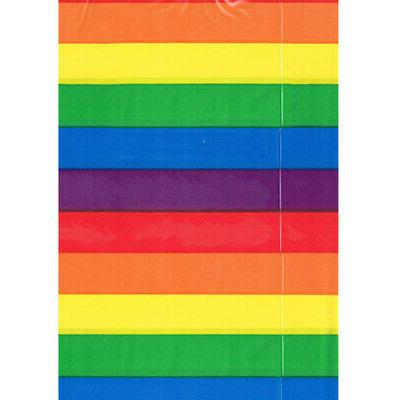 rainbow stripes plastic table cover birthday supplies