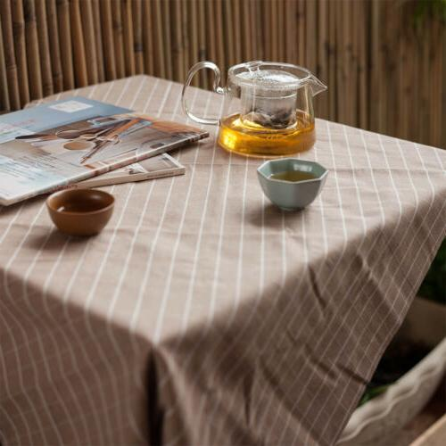 Rectangle Plain Table Cloth Decoration