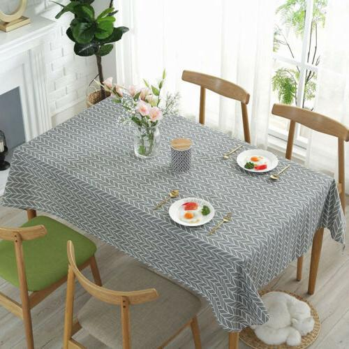 Rectangle Dining Table Cover Cloth Linen Tablecloth Kitchen