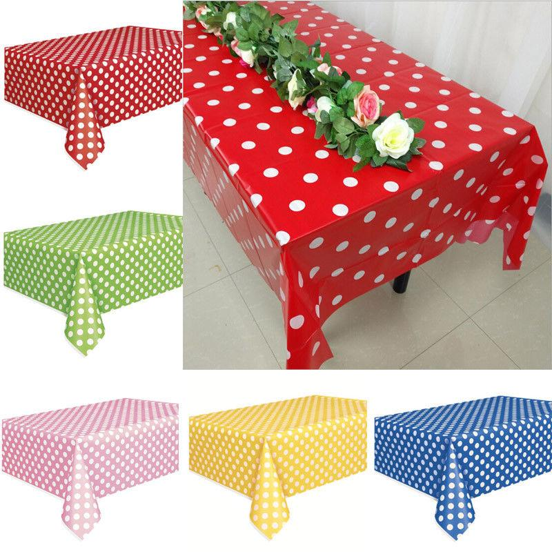 rectangle dots tablecloths for wedding party banquet