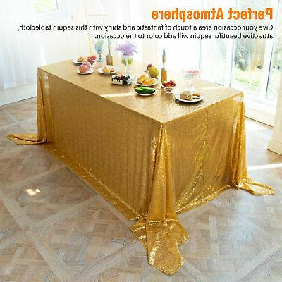 Rectangle Glitter Sparkly Table Cloth Wedding Party US