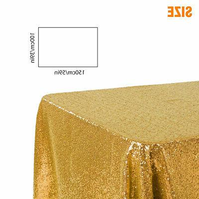 Rectangle Glitter Tablecloth Sparkly Cloth Wedding US