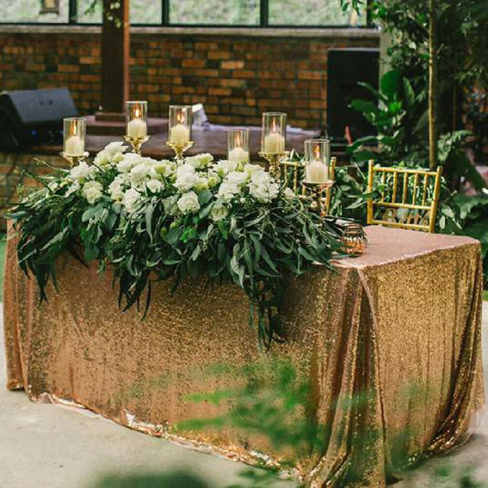 Rectangle Sparkly Table Wedding Party