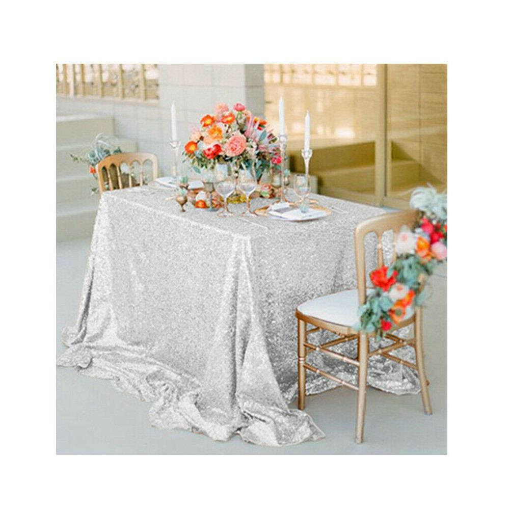 Rectangle Sequin Glitter Tablecloth Sparkly Cloth Wedding Party