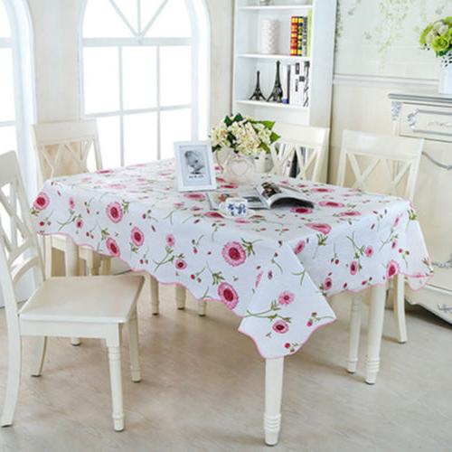 Rectangle Waterproof Oilproof Decor Table Cloth