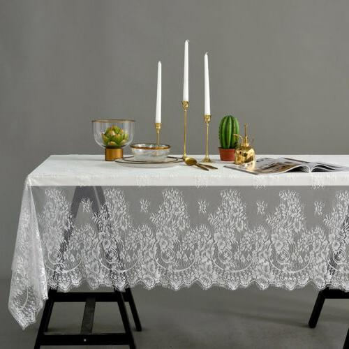 Rectangle Square Table Cover Lace Cloth Tablecloth Home Part