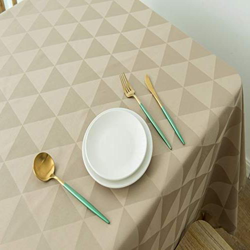 SUNLOVO Rectangle Table Cloth Spillproof 60 Table Cover for Buffet Table,Parties,Dinner,Picnic