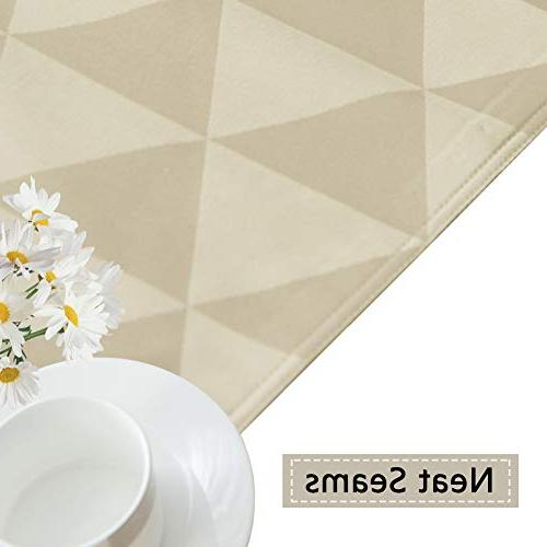SUNLOVO Rectangle Table Cloth Spillproof 60 inches, Table Cover Table,Parties,Dinner,Picnic