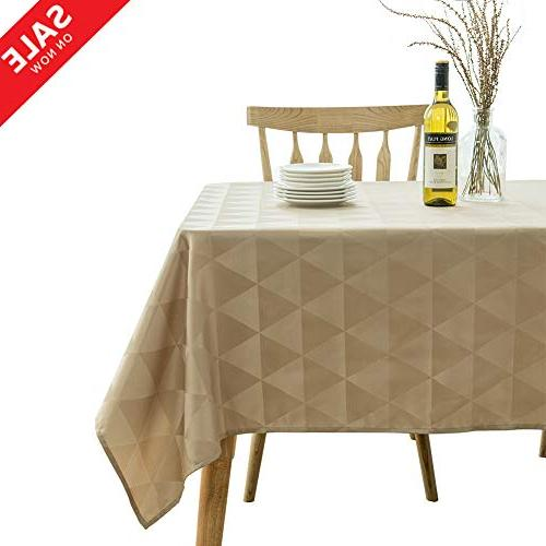 rectangle table cloth spillproof geometric