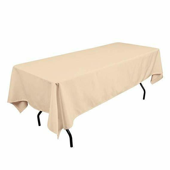Rectangle Table Cloth Home Party Plain 60 Inch