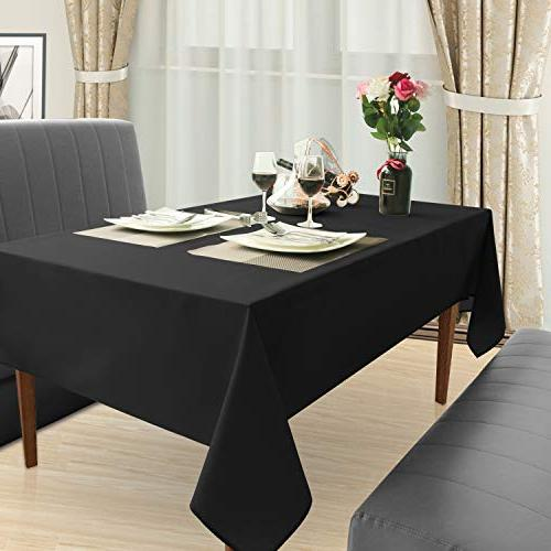 Homedocr Rectangle Stain Resistant, Wrinkle and Polyester Cloth, x Black