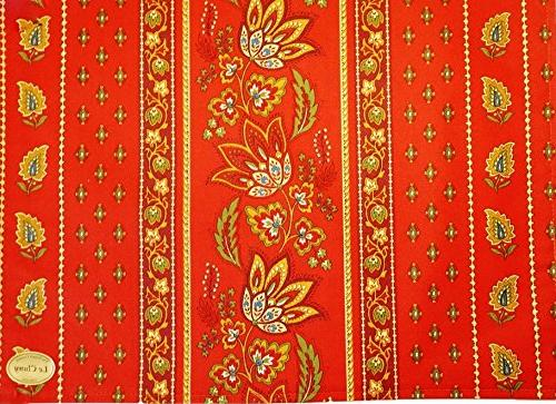 """60x96"""" Rectangular Lisa Red Cotton Coated by"""