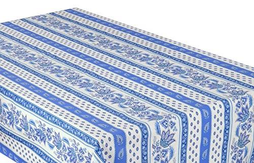 """58x84"""" Rectangular Lisa Cotton Provence Tablecloth by Le Cluny"""