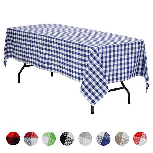 rectangular plaid check tablecloth gingham