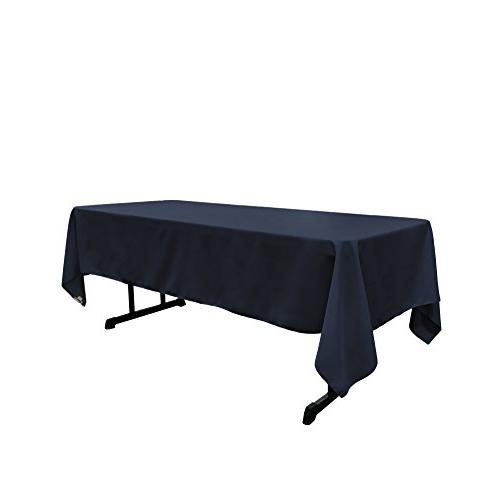 "LA Linen Polyester Poplin Rectangular Tablecloth, 60"" x 120"""