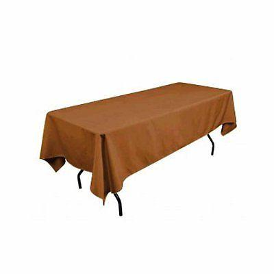 rectangular polyester tablecloth 60x102 inches by taupe