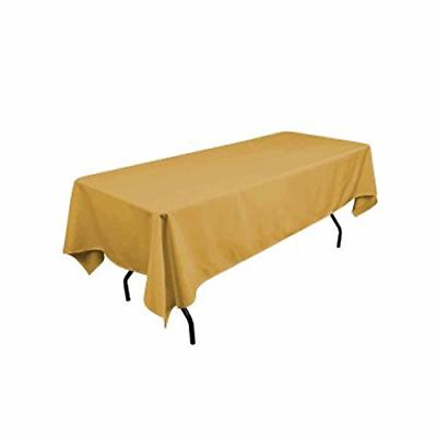 rectangular polyester tablecloth 60x120 inches gold