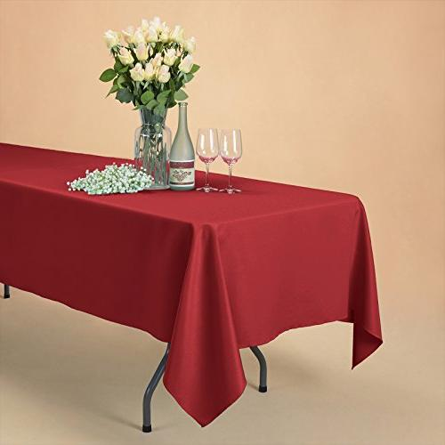 VEEYOO x inch Rectangular Polyester Tablecloth for Wedding Restaurant Party Table,