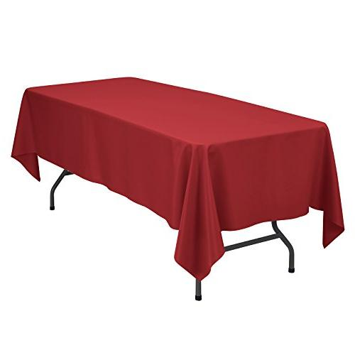 rectangular solid polyester tablecloth