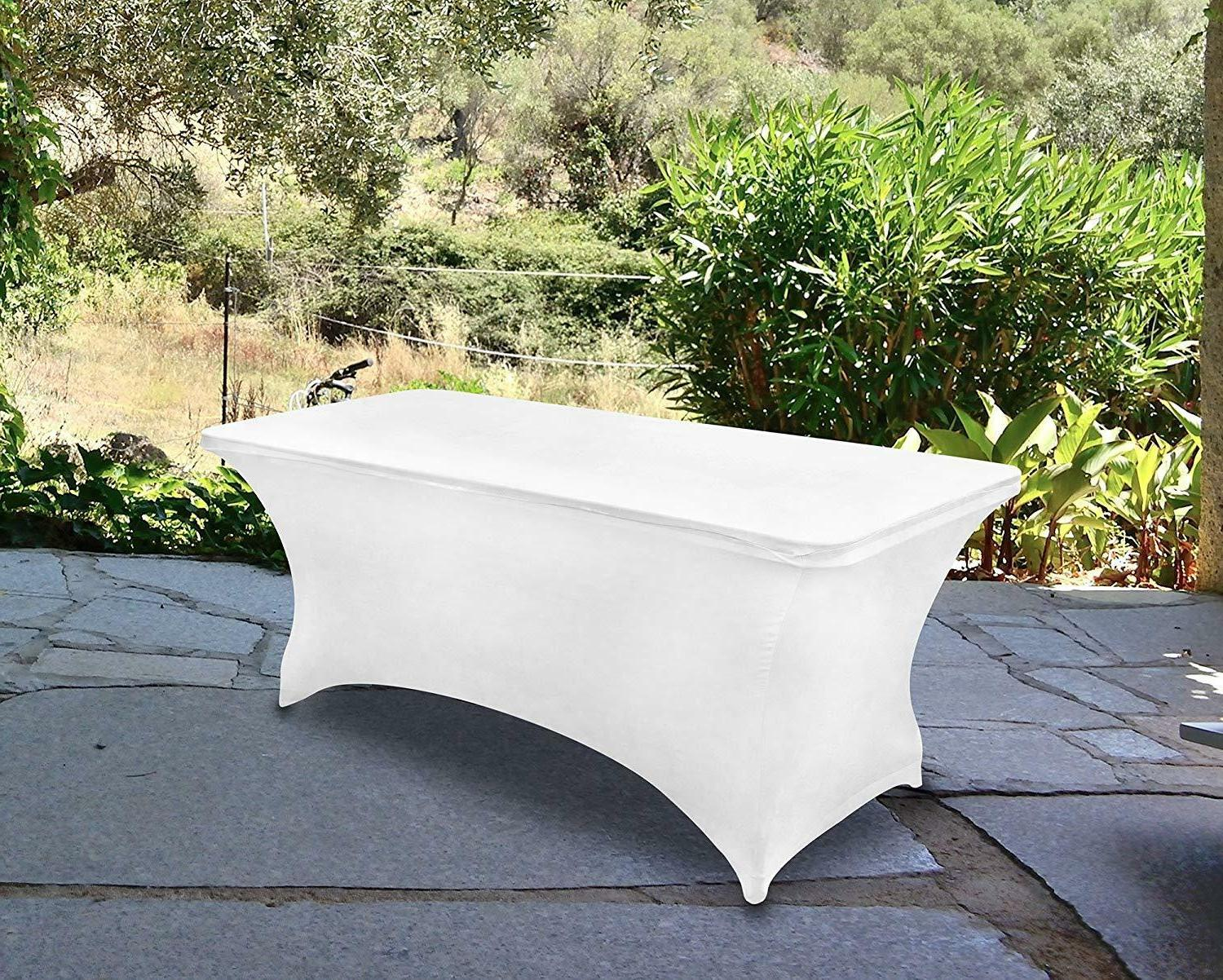 rectangular stretch tablecloth 6ft spandex tight fit