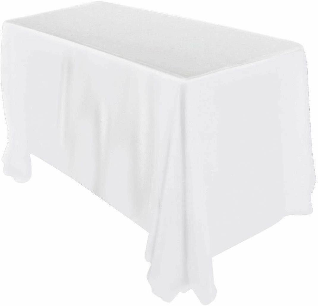 Rectangular Table Cloth 90 x 132 Inches In Black And White U