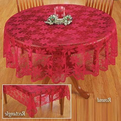 Red Flower Tablecloth Dinner Picnic Table Cloth Home Decorat