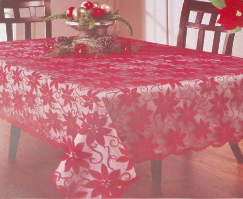 Red Flower Tablecloth Picnic Cloth Decoration Round