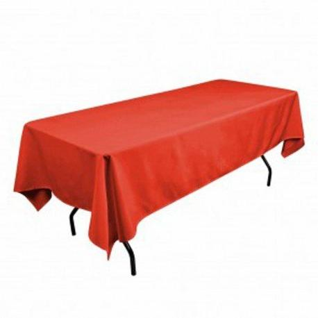 red rectangular polyester tablecloth inche