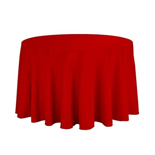 red round polyester tablecloth 118