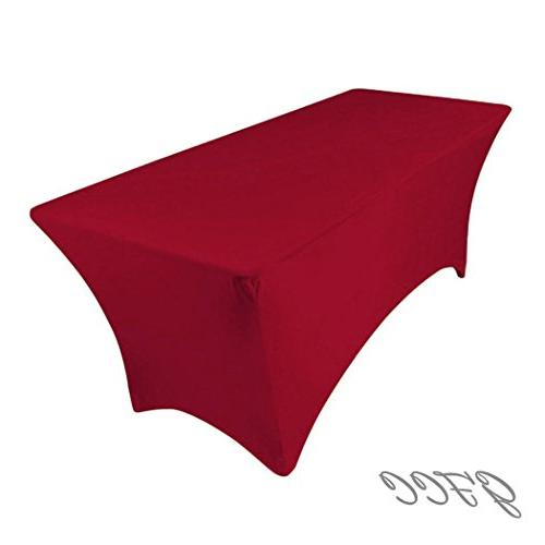 spandex tablecloth red stretch rectangle