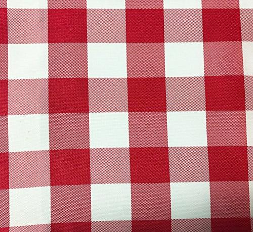 red white gingham checkered polyester