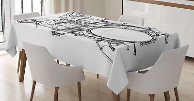 Rock Music Tablecloth by Ambesonne Rectangular Table Cover H