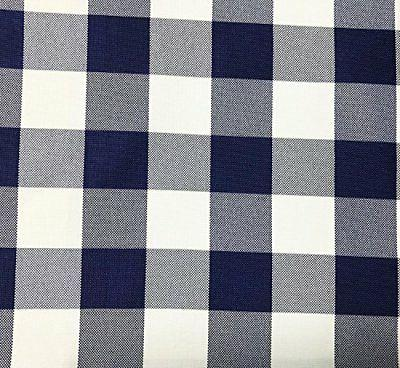 GFCC Round Check Polyester Tablecloth WHITE 90 Inch