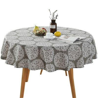 Round Colorful Cloth Cotton Dining New