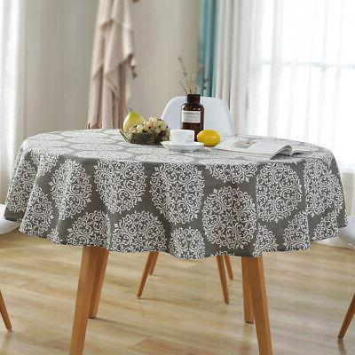 Round Colorful Cotton Linen Dining New