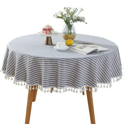 Cotton Linen Round Cloth