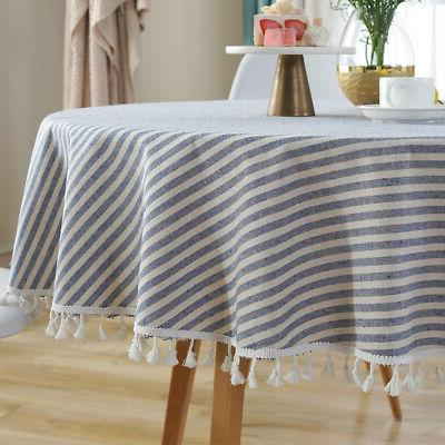 Cotton Tablecloth Round Kitchen Cloth