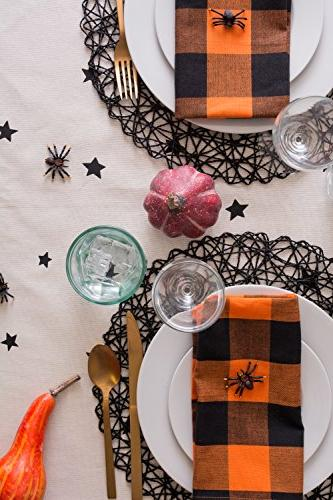 "DII 60x104"" Tablecloth, Stars - Perfect for Dinner Parties and Scary Movie Nights"