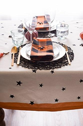DII Cotton Tablecloth, Stars Perfect Dinner Parties and Scary Nights