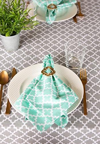 DII Round Cotton Tablecloth for Weddings, Picnics, Summer Parties Use Gray