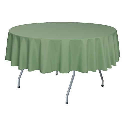 round polyester linen tablecloth sage