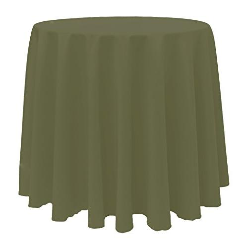 round polyester linen tablecloth