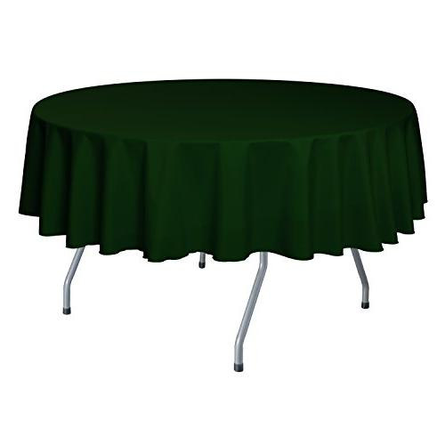 round polyester linen tablecloth hunter